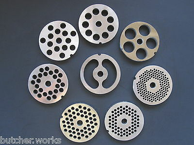 #12 Stainless Meat Grinder Plate Screen Die Adcraft Choprite  PICK YOUR SIZE!