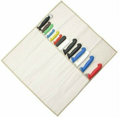 Chefs Canvas Knife Wallet Case Roll 14 Compartment (without Knives)