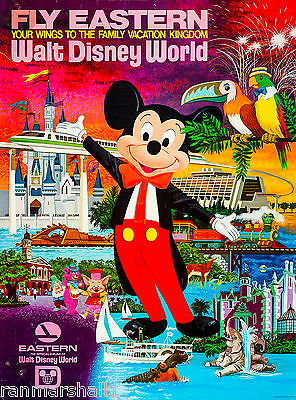 Orlando Florida Disney Air United States of America Travel Advertisement Poster