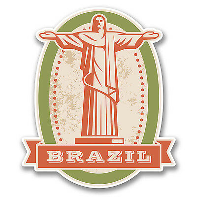 2 x Brazil Vinyl Sticker Car Travel Luggage #9319