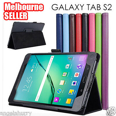 "Galaxy Tab S2 Flip Leather Case Cover For Samsung Galaxy Tab S2 8.0"" 9.7"""