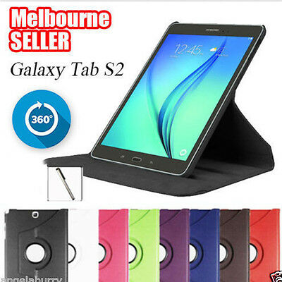 Smart Rotation Stand Case Cover for Samsung Galaxy Tab S2 8.0 9.7 Tablet