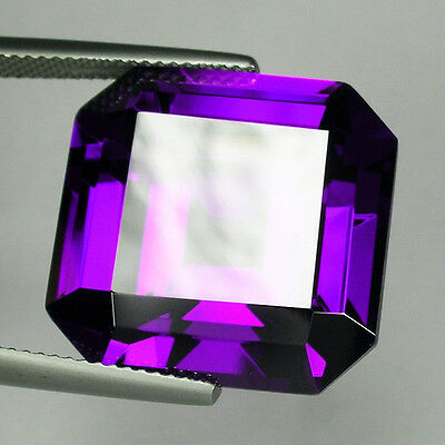 60+ Cts Huge Asscher Emerald (20x20 MM) Lab Simulated Violet Sapphire AAA N18