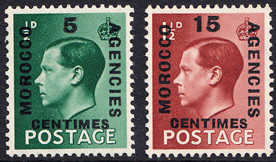 Edward VIII SG227 - 8 Definitives Morocco Agencies Set of 2 French Currency MNH