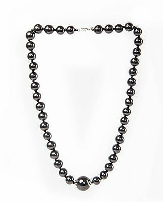 SHUNGITE NECKLACE BEADS 500mm FROM RUSSIA KARELIA ELEMENTS MAGIC STONE REIKI