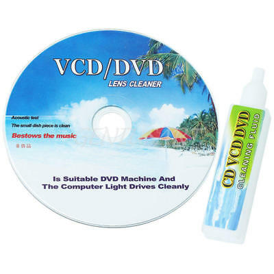CD/DVD Player Lens Laser + Cleaning fluid Head Dirt Cleaner Restore Kit