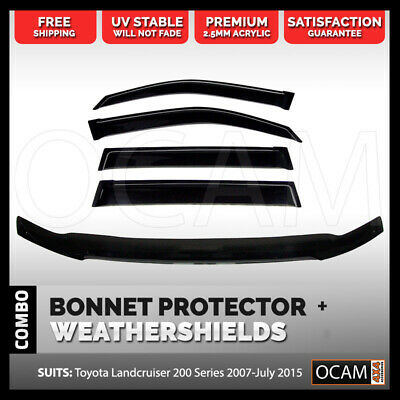 Bonnet Protector, Weathershields For Toyota Landcruiser 200 Series 2007-15