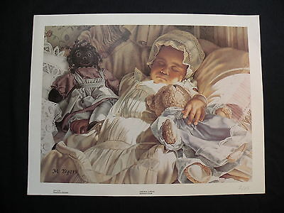 Melinda BYERS Giclee Oil Painting Canvas African American PEACEFUL DREAMS Baby