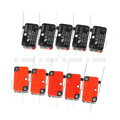 10pcs V-152-1C25 Micro Limit Switch Long Hinge Roller Momentary SPDT Snap Action