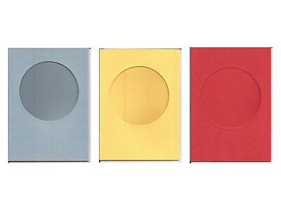 """6"""" x 4"""" Circle Window/Aperture Card Blanks - Perfect for your DIY Greeting Cards"""