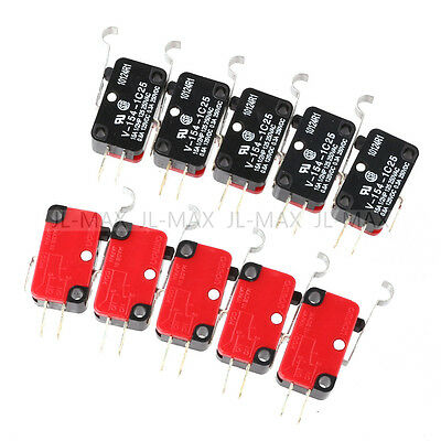 10pcs V-154-1C25 Micro Limit Switch Long Hinge Roller Momentary SPDT Snap Action