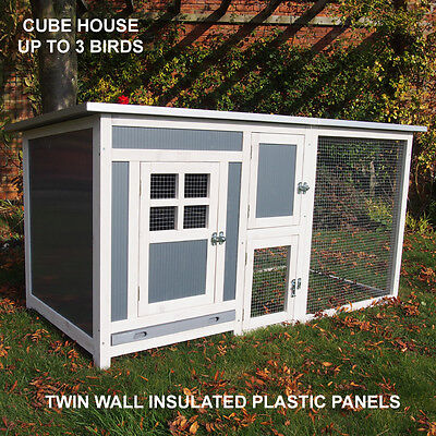 Plastic Chicken Coop & Run Hen House Poultry Ark Home Coops Rabbit Hutch Coop