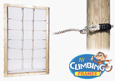 Cargo Scramble Play Net with / without WOOD. Climbing Frame Outdoor Tree House