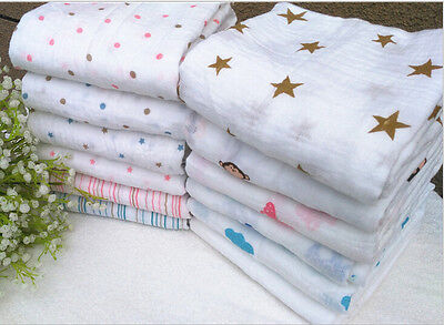 1P Soft Aden+ Anais 100% Muslin Cotton swaddle Baby Blanket-8 Patterns 120*120CM