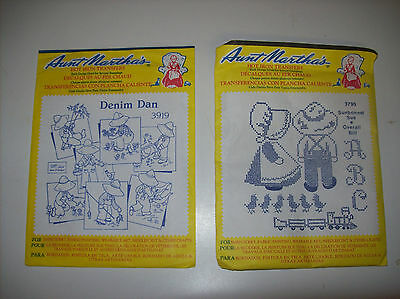 Aunt Martha's Transfers Denim Dan and Sunbonnet Sue & Overall Bill 2 sets