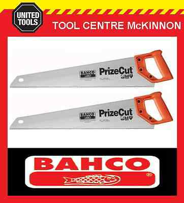 "2 x BAHCO PRIZE CUT 22"" (550mm) HARDPOINT GENERAL PURPOSE HAND SAW"