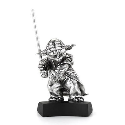 Star Wars Pewter Figurine Yoda - Lucasfilm Approved - by Royal Selangor
