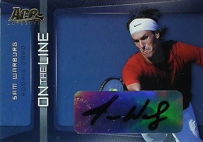 Ace - Authentic - Tennis - Ol - 1 Sam Warburg - On The Line - Autogramm