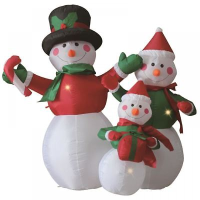 1.2M Snowman Family Group Inflatable Self Inflating Electric Christmas Figure