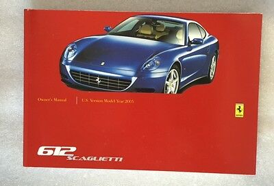 Ferrari 612 Scaglietti US Version MY2005 - Owner's Manual #2002/03