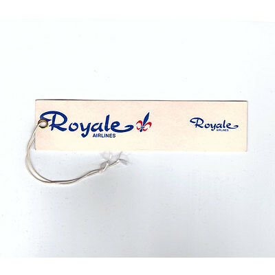 Royale Airlines - Airline Baggage Tag - Good Condition