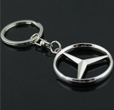 Carjoy Mercedes Benz Badge Logo Metal Polished Car Keyring Key Ring Chain Gift