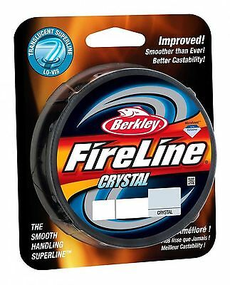 Berkley Fireline Fused Crystal Translucent PE Braid Fishing Superline 300 Yards!