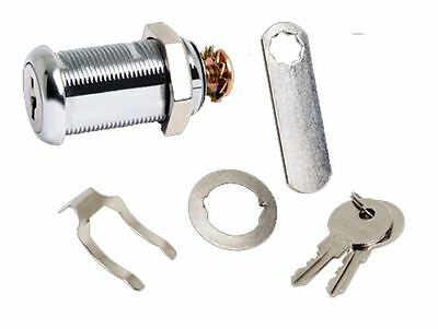 Sterling 180 Degrees 32mm Camlock With Fixings Desk Drawer Filing Cabinet Lock