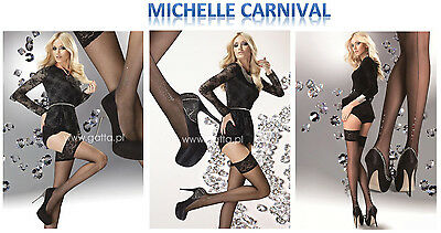 Bas fantaisie autofixants dentelle multi strass Michelle Carnival sexy Holds ups