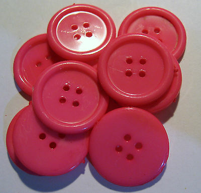 10 x Large MIXED COLOURS 4-Hole Plastic Buttons 22mm Wide SB7A