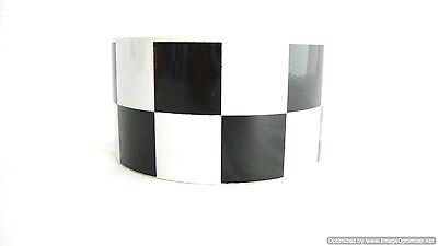 High Quality Black/white Chequered Reflective Tape 50Mm*45M Roll