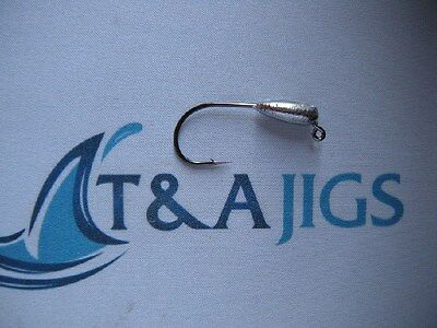 25--3//4 TUBE JIGS W 2//0 MUSTAD BLACK NICKEL ULTRA POINT