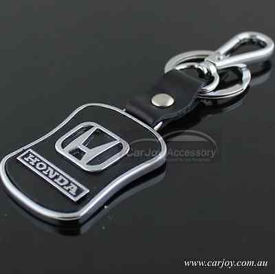 Carjoy Zinc Alloy Real Leather Car Logo Key Ring Keyrings Honda Key Chain Gift