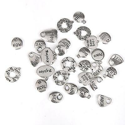 30x Antique Tibetan Silver Assorted Charms Pendants DIY Craft Jewelry Making