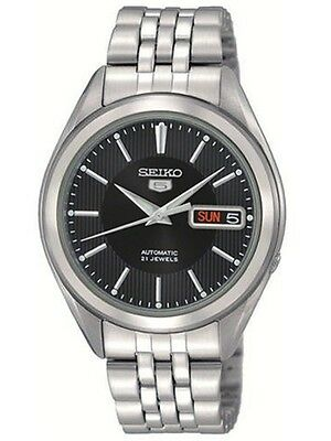 Seiko 5 Men's Snkl23 Stainless Steel Automatic Black Dial Watch