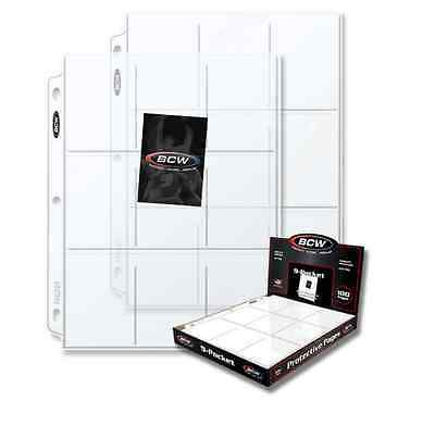 (25) 9 Pocket Pages BCW PRO Binder Cards / Coupon Sleeves with Ultra Protection