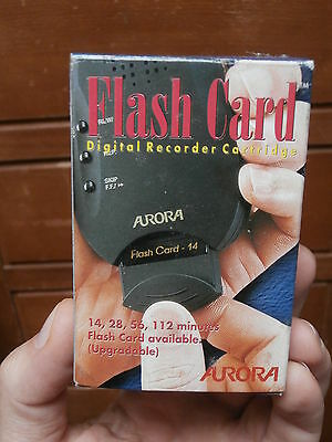 FLASH CARD 56 minuti REGISTRATORE AUDIO VOICE RECORDER Aurora VR 1400 MEMORIA