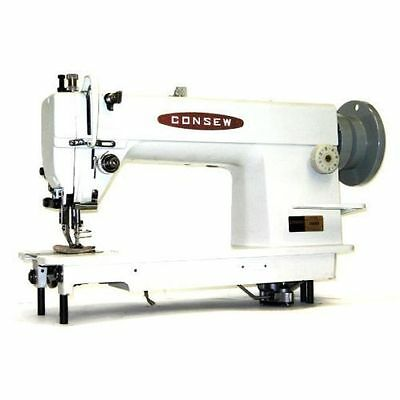 New CONSEW 205RB Walking Foot Sewing Machine w/ servo 3/4hp motor and table comp