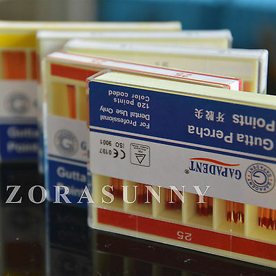 10 Boxes Dental Gapadant Gutta Percha Points #25 120pcs/box Free Shipping
