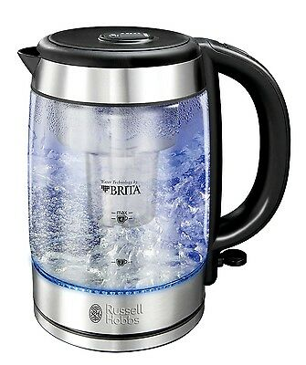 Russell Hobbs 20760 Purity Glass Brita Kettle 3kW Brita Maxtra Filter Kettle New