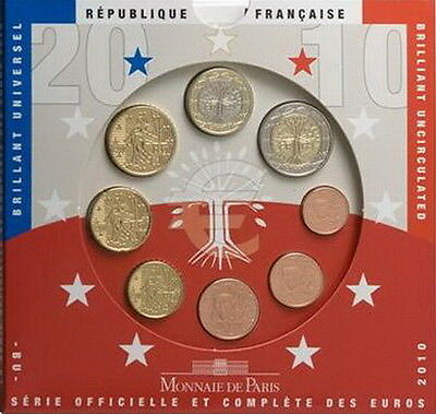 Euro: Serie Divisionale Francia 2010 - Fdc - France