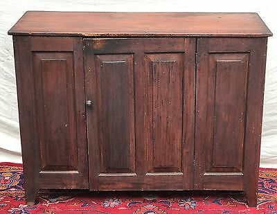 Ultra Rare & Fine 18Th C Queen Anne Period Antique Sideboard ~Original Varnish