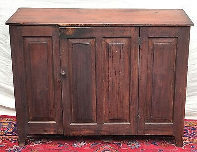 Ultra Rare & Fine 18Th Century Queen Anne Period Sideboard In Old Red Paint