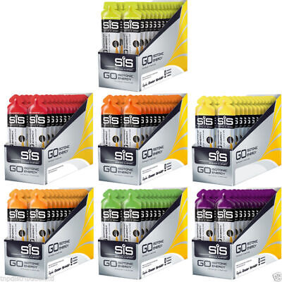 SIS ISO Go Carbohydrate Energy Gel 30 x 60ml Science In Sports Isotonic Gels