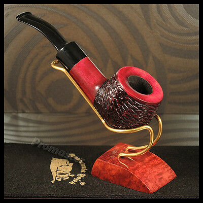 """Mr.Brog HAND MADE  WOODEN TOBACCO  SMOKING PIPE PEAR no. 53  """" Heavy """"  Rustic"""
