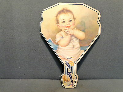 Vintage Paper Hand Fan Streich Dairy Clarendon Pa Baby