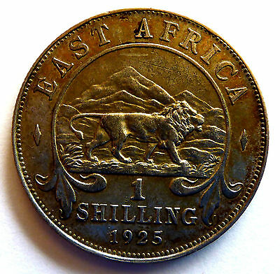 1925 East Africa Silver Shilling Lion