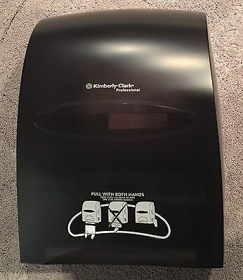 Used Kimberly-Clark Professional SANITOUCH Hard Roll Paper Towel Dispenser