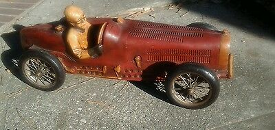 1934 Bugatti Type 59 Grand Prix large resin model race car with driver