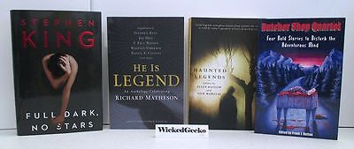 Lot of 4 HORROR Short Story Novella Books - Stephen King, Haunted, He Is Legend